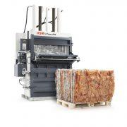 Vertical baling press / single-chamber
